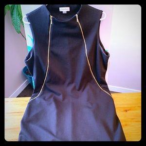 Ladies black zip up dress